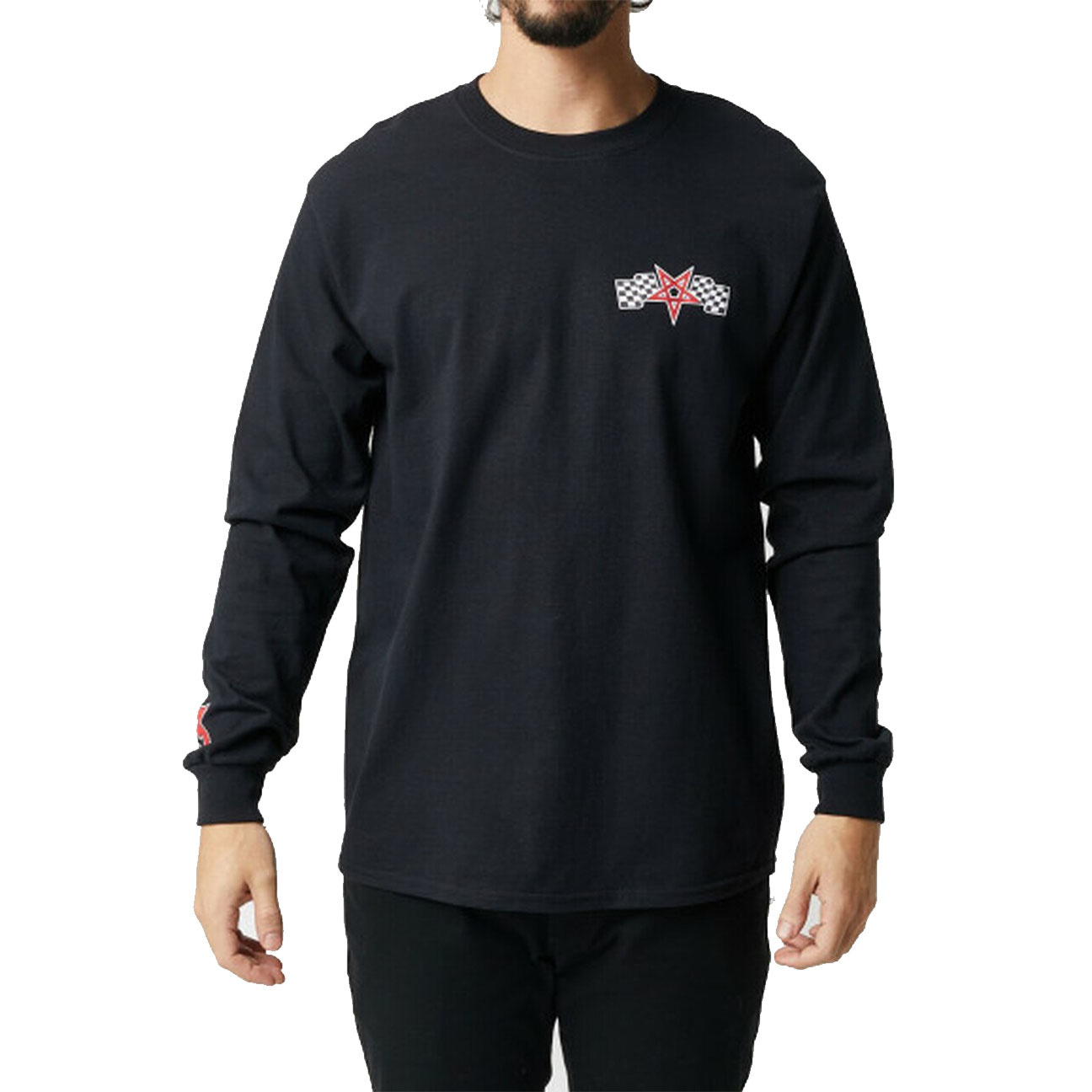 Racing Long-sleeve, Black/Red-3