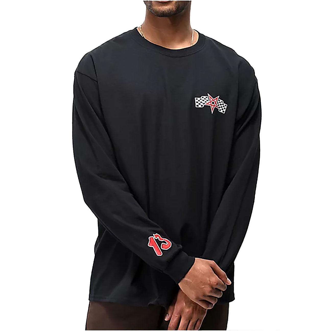 Racing Long-sleeve, Black/Red-4