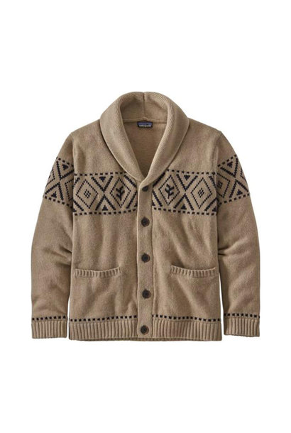 Men's Recycled Wool Shaw-Collar, Khaki