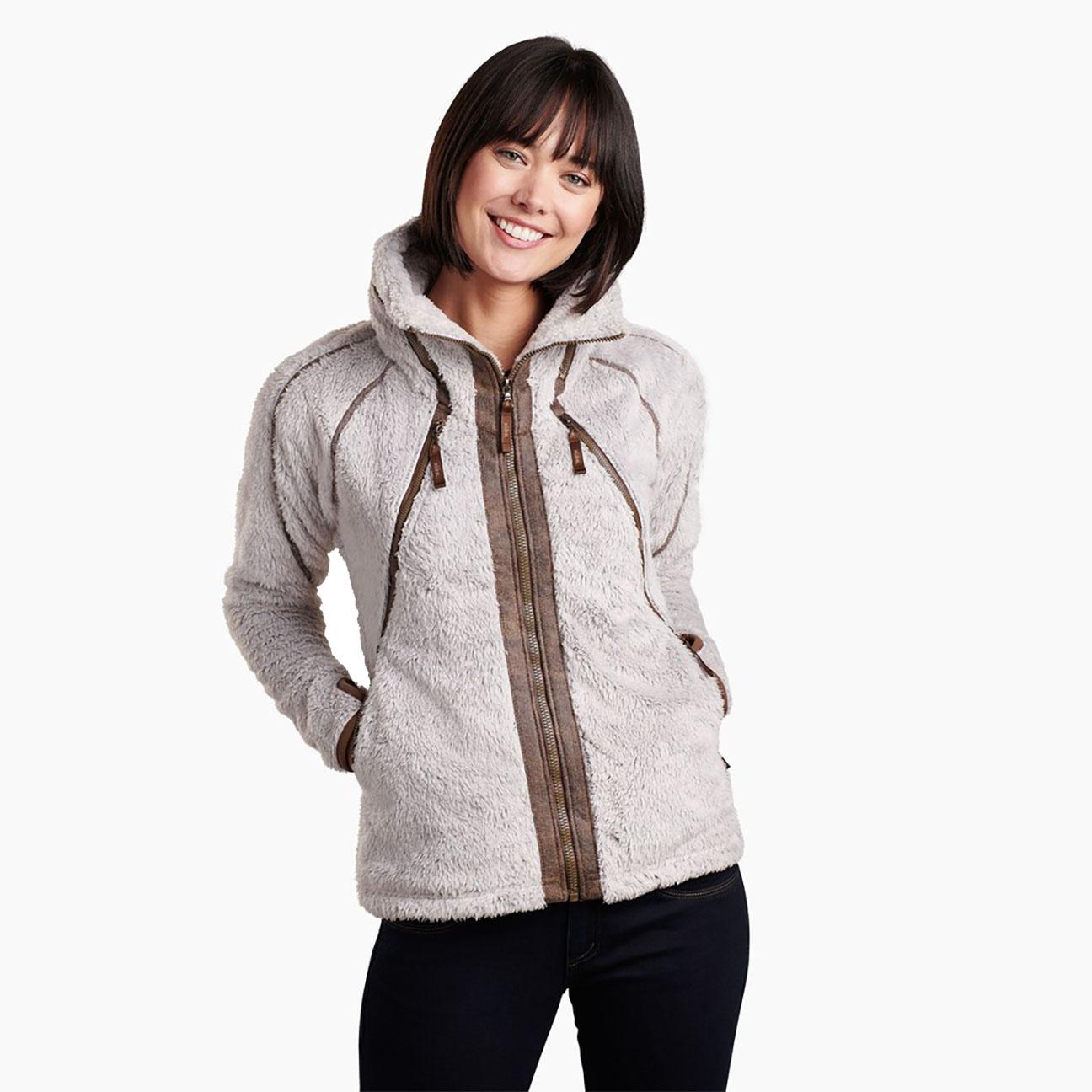 Women's Flight Jacket, Stone-2