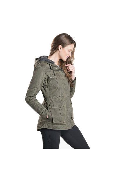 W's Fleece Lined Luna Jacket, Sage