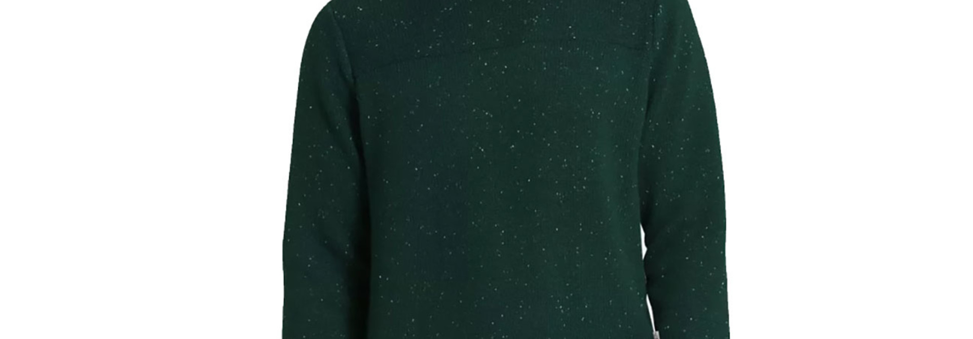 Men's Crestview Crew Sweater, Scarab Green