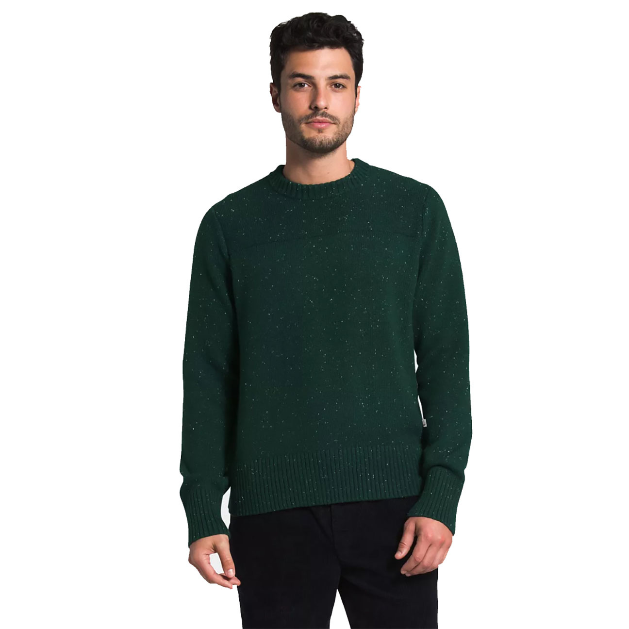 Men's Crestview Crew Sweater, Scarab Green-1