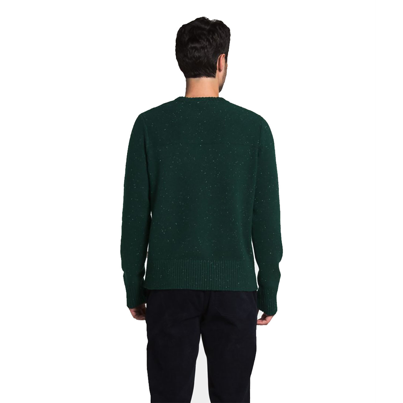 Men's Crestview Crew Sweater, Scarab Green-2