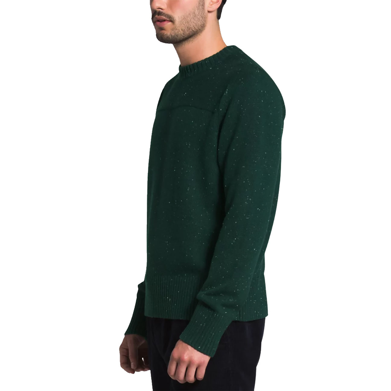 Men's Crestview Crew Sweater, Scarab Green-3
