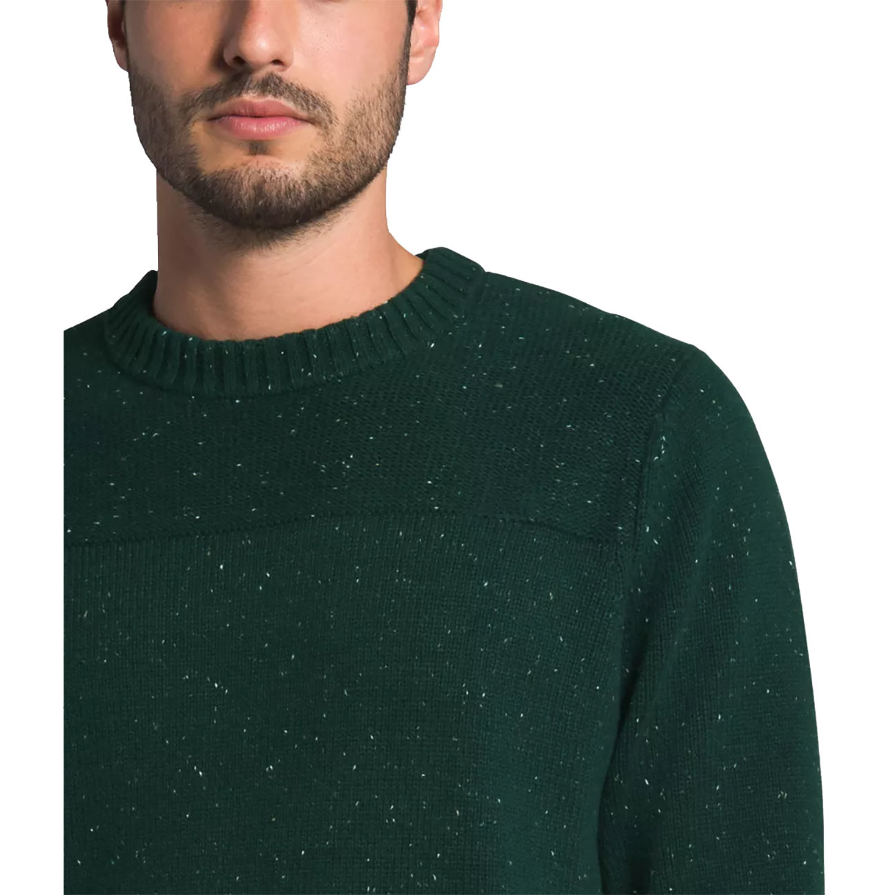Men's Crestview Crew Sweater, Scarab Green-4