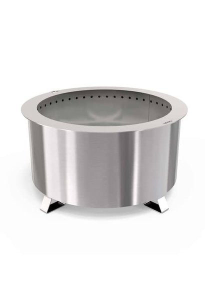 Double Flame 24 Smokeless Fire Pit, Stainless