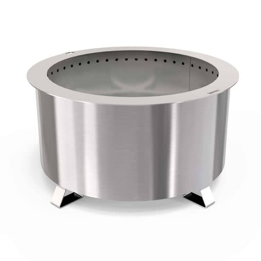 Double Flame 24 Smokeless Fire Pit, Stainless-1