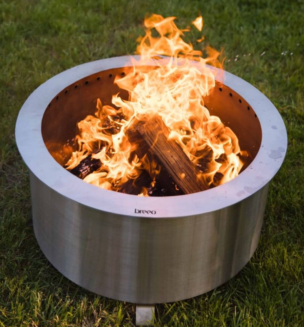 Double Flame 24 Smokeless Fire Pit, Stainless-2