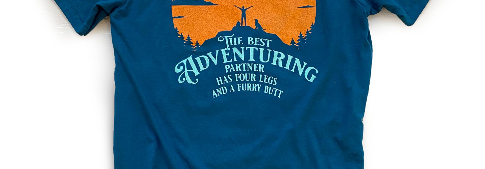 Four Legs and a Furry Butt T-shirt, Blue