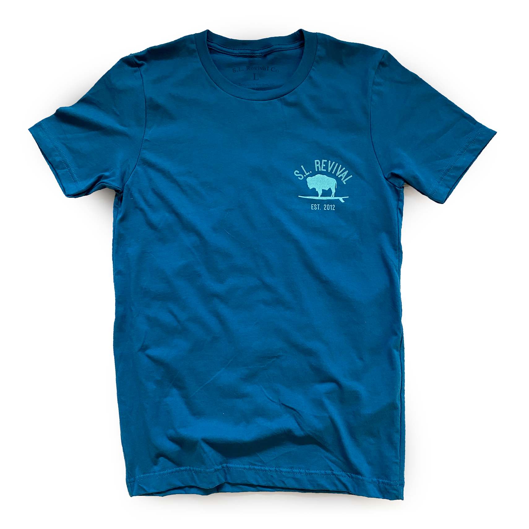 Four Legs and a Furry Butt T-shirt, Blue-3