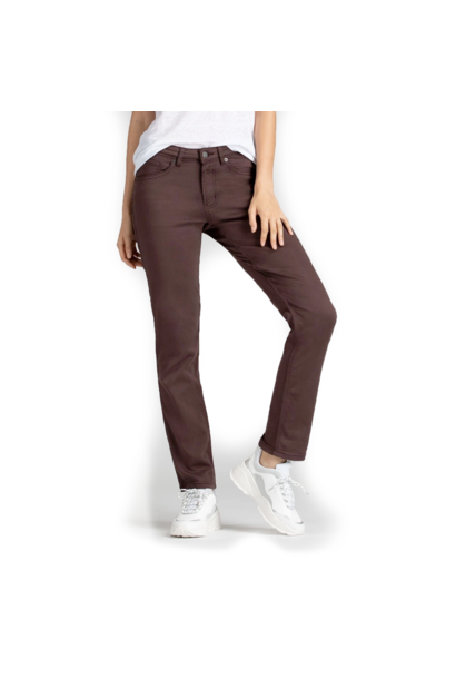 Women's No Sweat Slim Straight, Mahogany