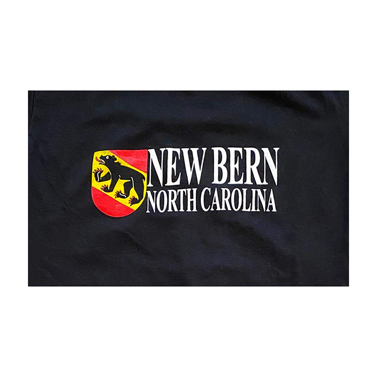 New Bern Bear Shield T-Shirt, Black-2