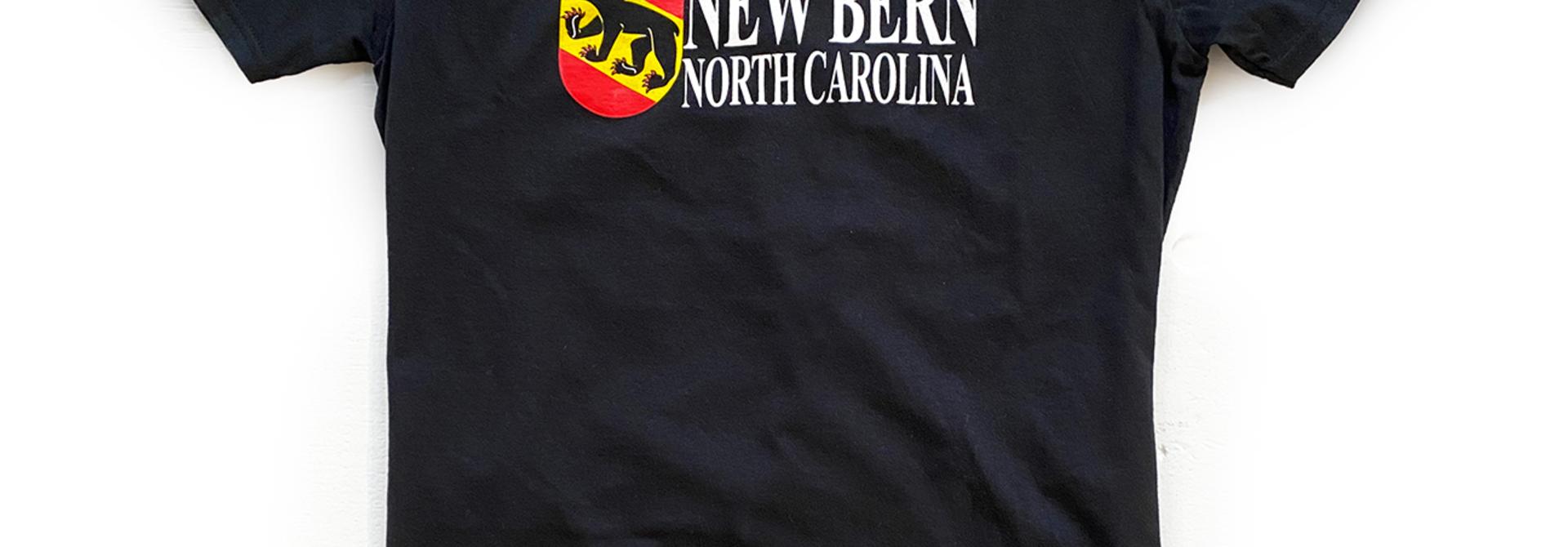 New Bern Bear Shield T-Shirt, Black