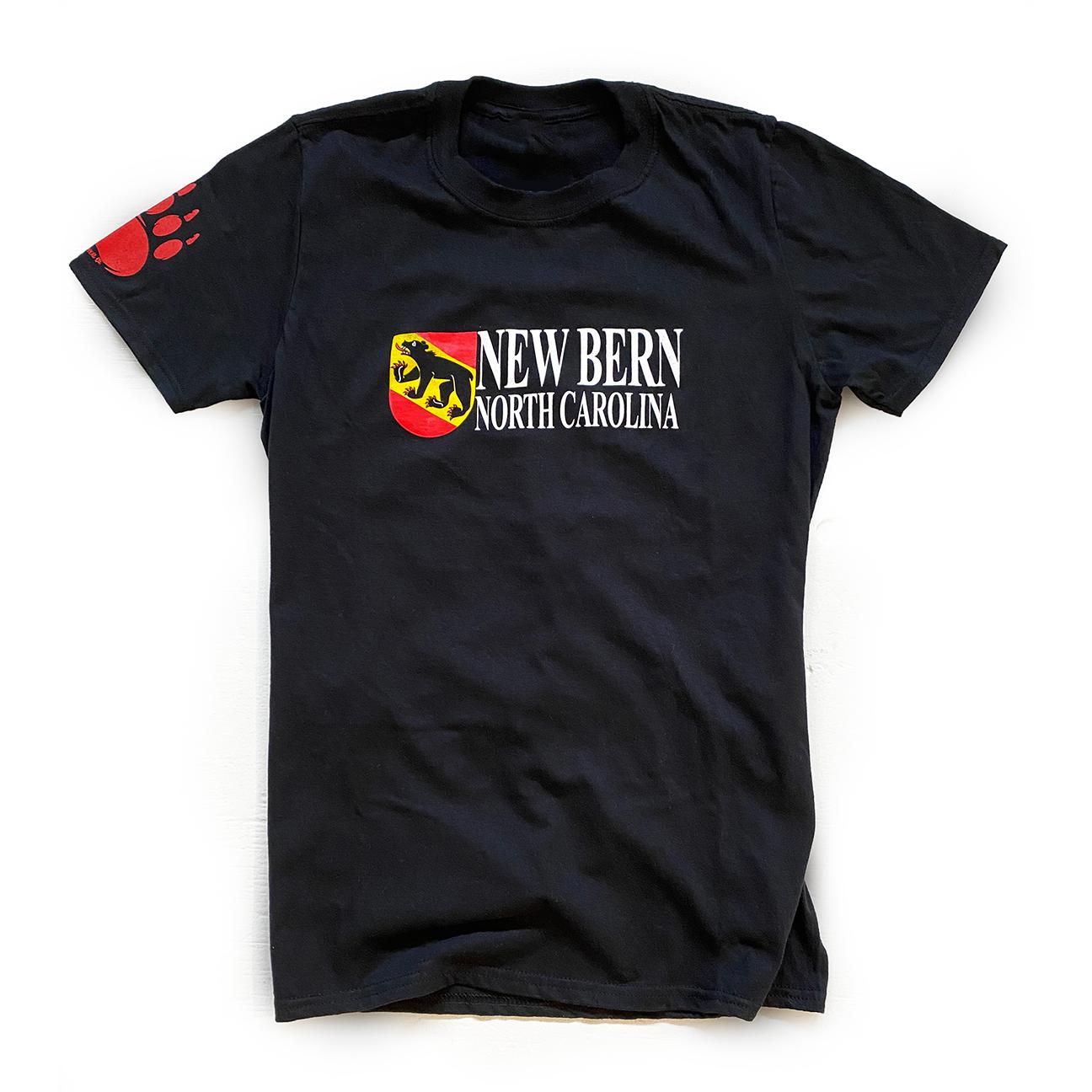 New Bern Bear Shield T-Shirt, Black-1