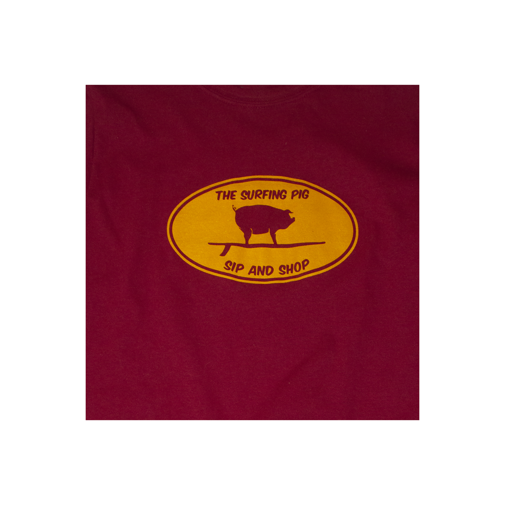 The Surfing Pig Sip and Shop Long Sleeve, Red-2