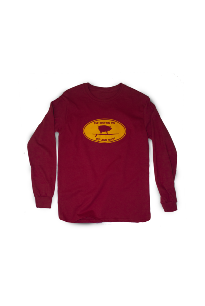 The Surfing Pig Sip and Shop L/S, Red
