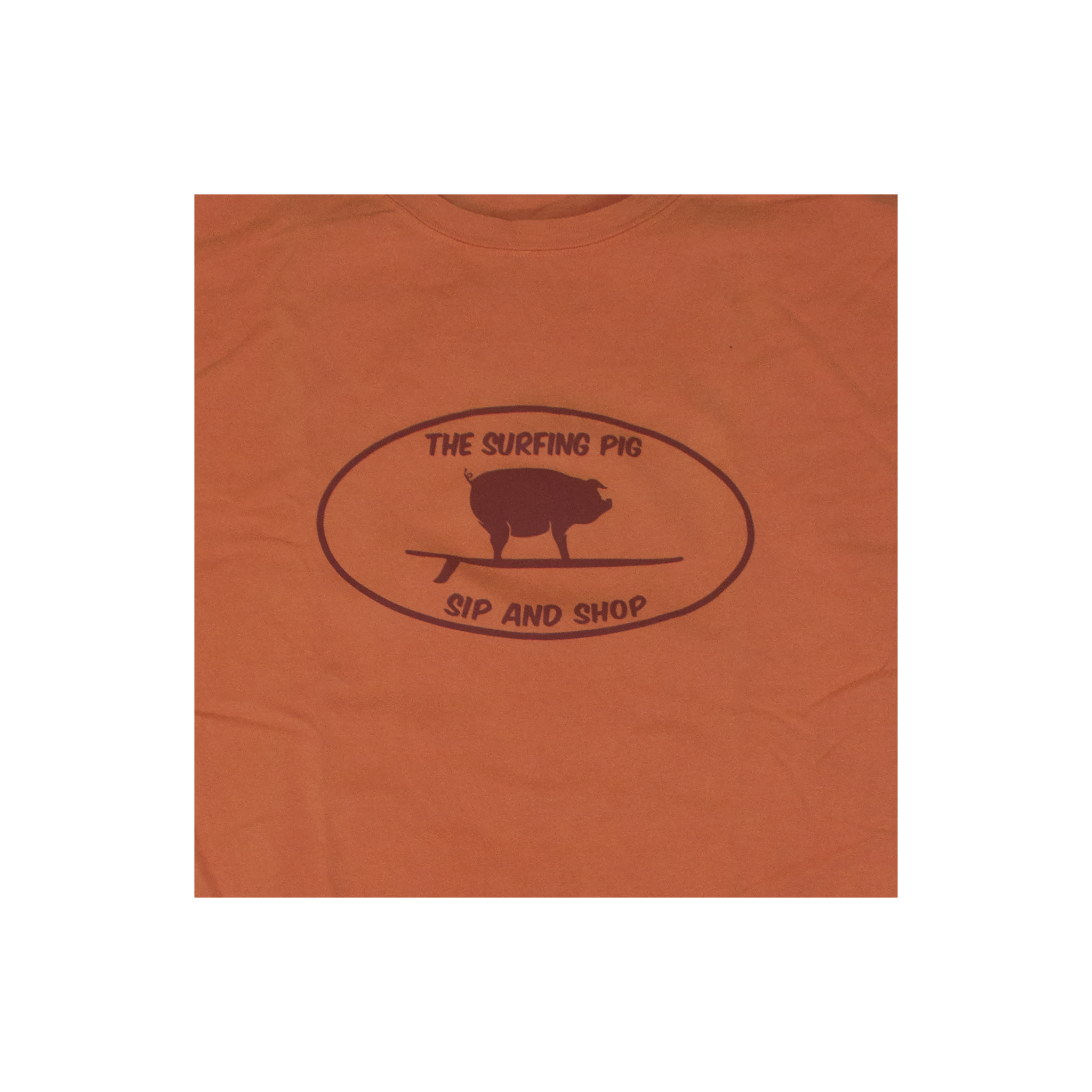 The Surfing Pig Sip and Shop Short Sleeve, Tangerine-2