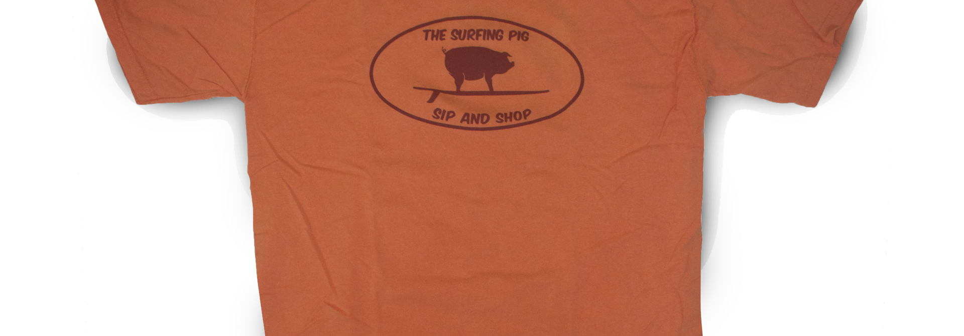 The Surfing Pig Sip and Shop Short Sleeve, Tangerine