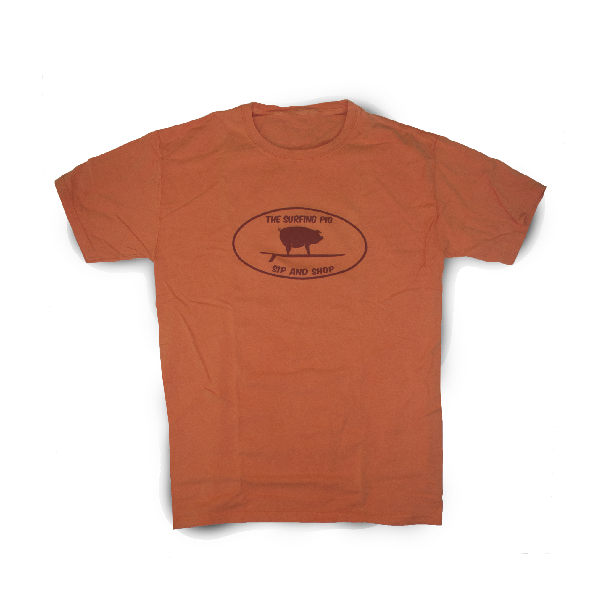 The Surfing Pig Sip and Shop Short Sleeve, Tangerine-1