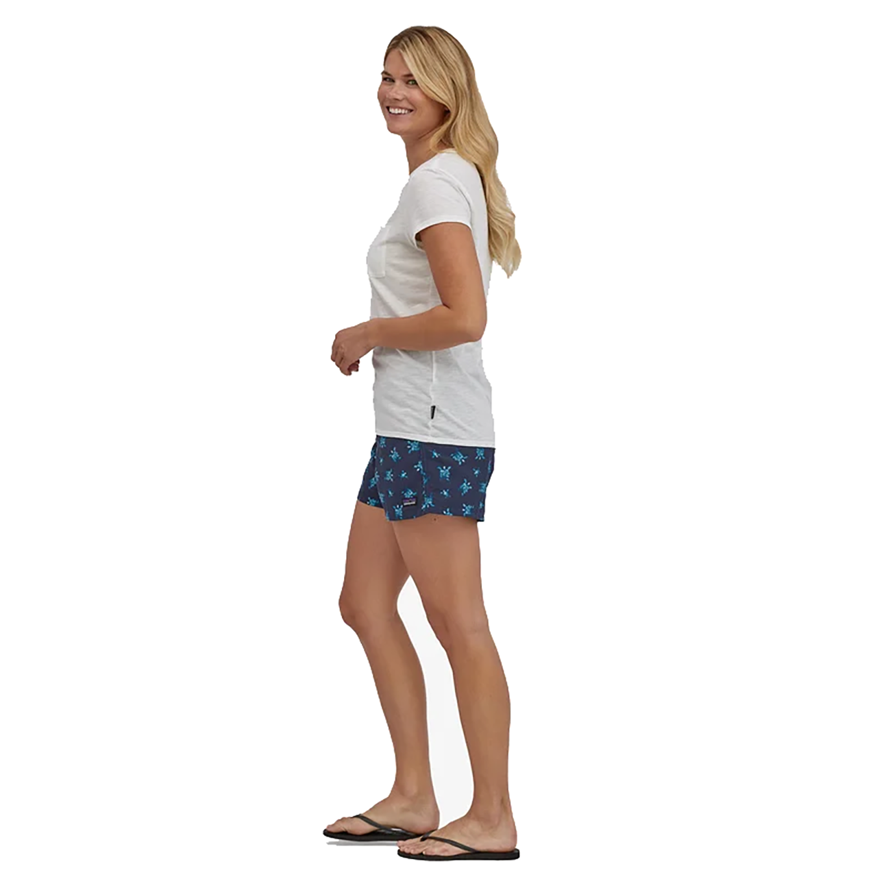 "Women's Baggie Shorts, Little Flippers: Steller Blue - 5""-4"