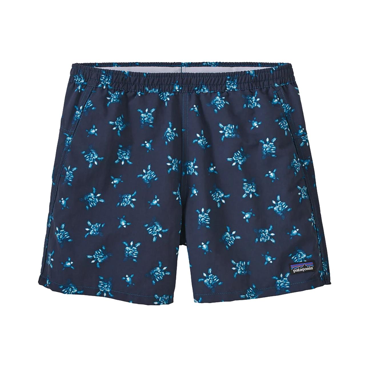 "Women's Baggie Shorts, Little Flippers: Steller Blue - 5""-1"