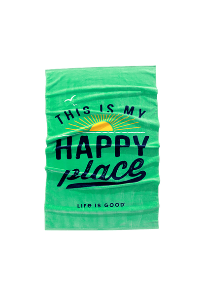 Happy Place Beach Towel