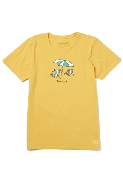 W's Time Out Beach Crusher Tee, Baja Yellow