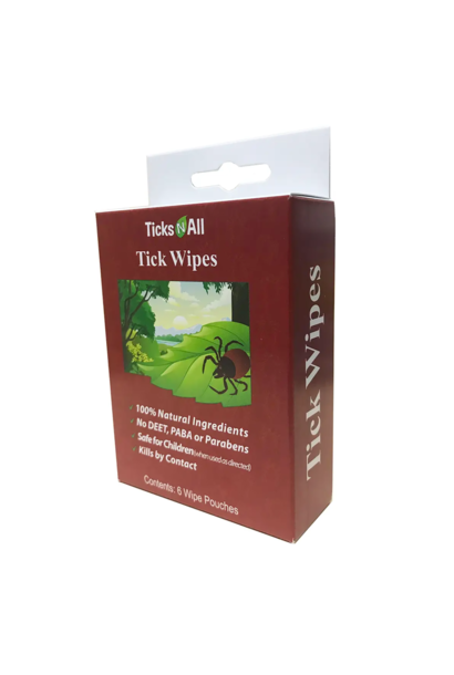 Tick Wipes - 6 pack
