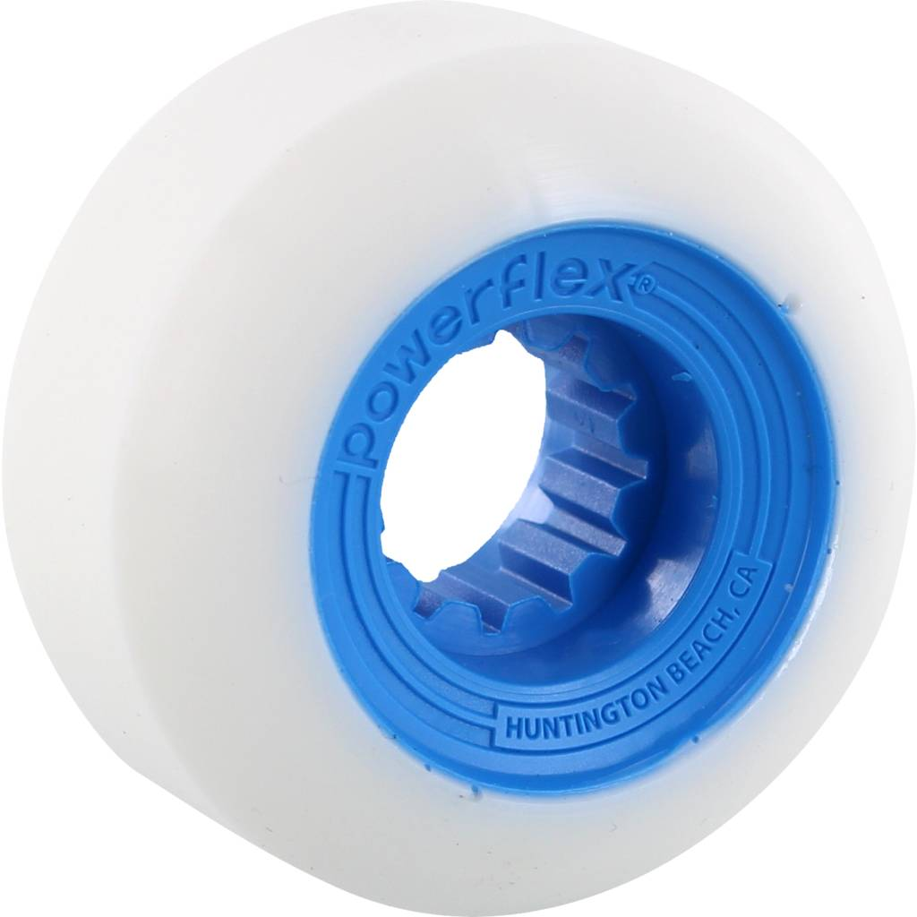 Eastern Skate Supply Powerflex Gumball White/Blue 56mm 83b, Set of 4