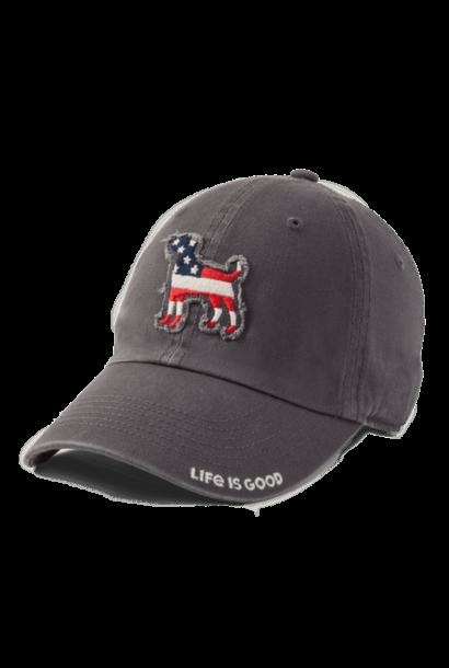 Americana Dog Tattered Chill Cap, Slate Gray