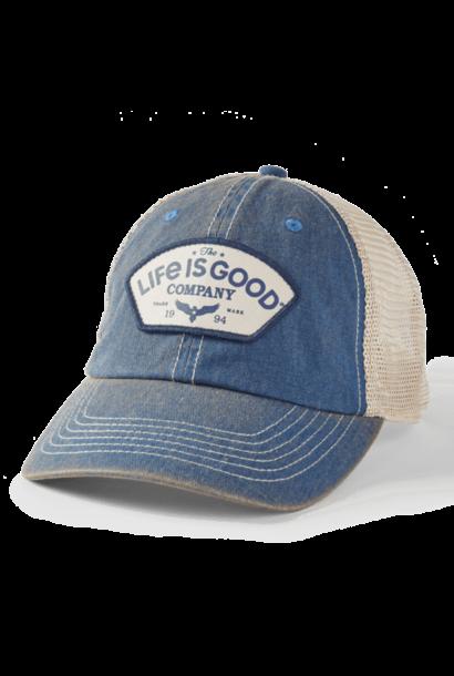 Positive Lifestyle Eagle Old Favorite Mesh Back Cap, Vintage Blue