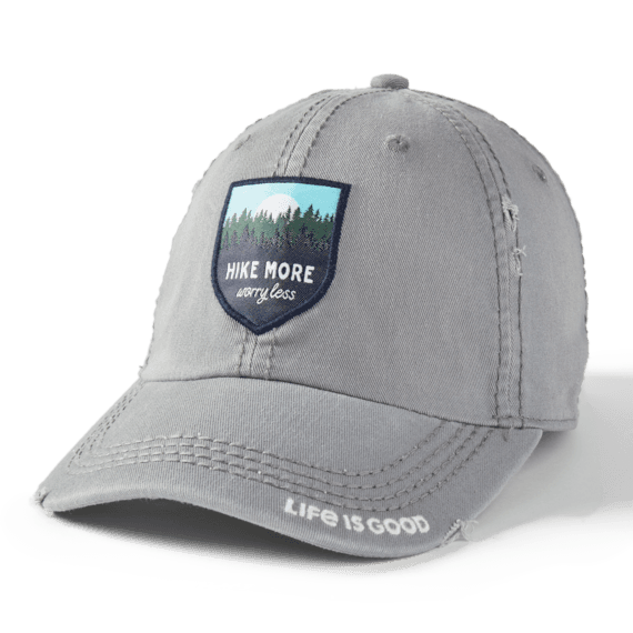 Hike More Worry Less Sunwashed Chill Cap, Slate Gray-1