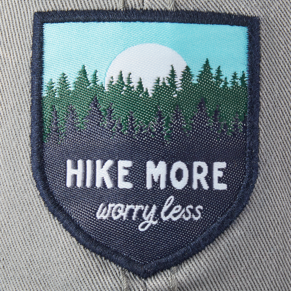 Hike More Worry Less Sunwashed Chill Cap, Slate Gray-3