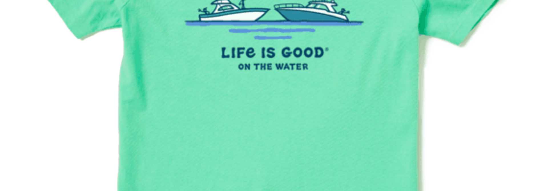 Women's Life is Good on the Water Crusher Tee, Spearmint Green