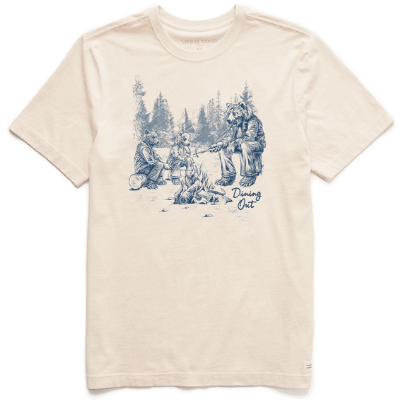 Men's Dining Out Bears Short Sleeved Tee-1