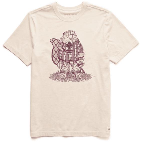 Men's Handyman Beaver Short Sleeved Shirt, Putty White-1
