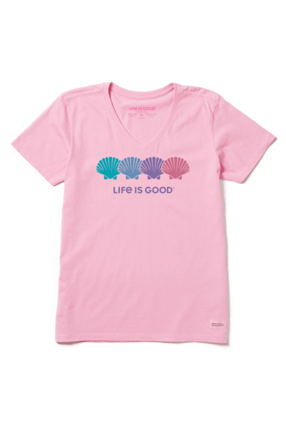 W's Seashell Spectrum Short Sleeve Tee, Happy Pink