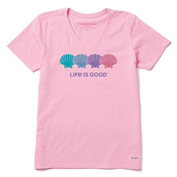 W's Seashell Spectrum Short Sleeve Tee, Happy Pink-1