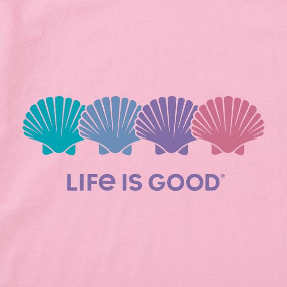 W's Seashell Spectrum Short Sleeve Tee, Happy Pink-2