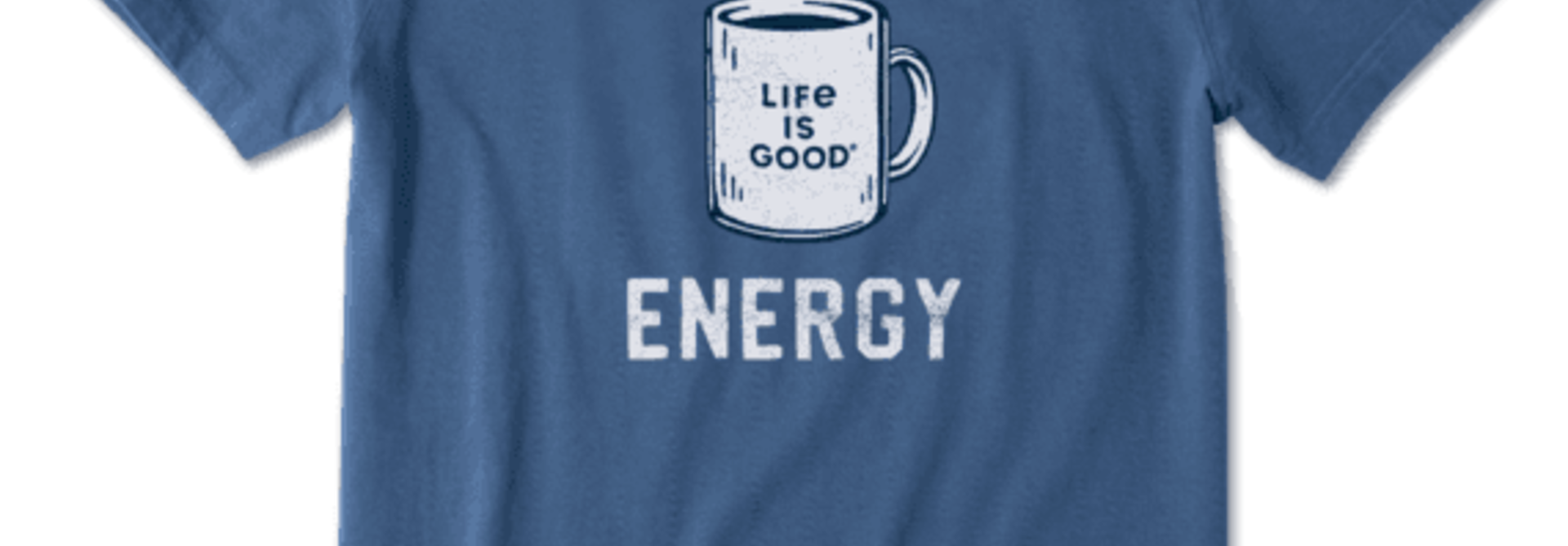 M's Renewable Energy Mug Short Sleeved Crusher-Lite Tee, Vintage Blue