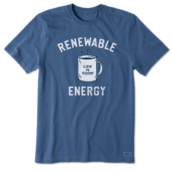 M's Renewable Energy Mug Short Sleeved Crusher-Lite Tee, Vintage Blue-1