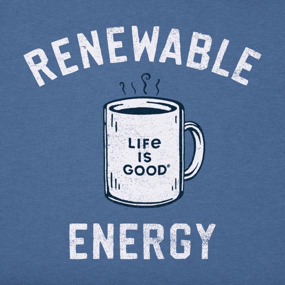 M's Renewable Energy Mug Short Sleeved Crusher-Lite Tee, Vintage Blue-2