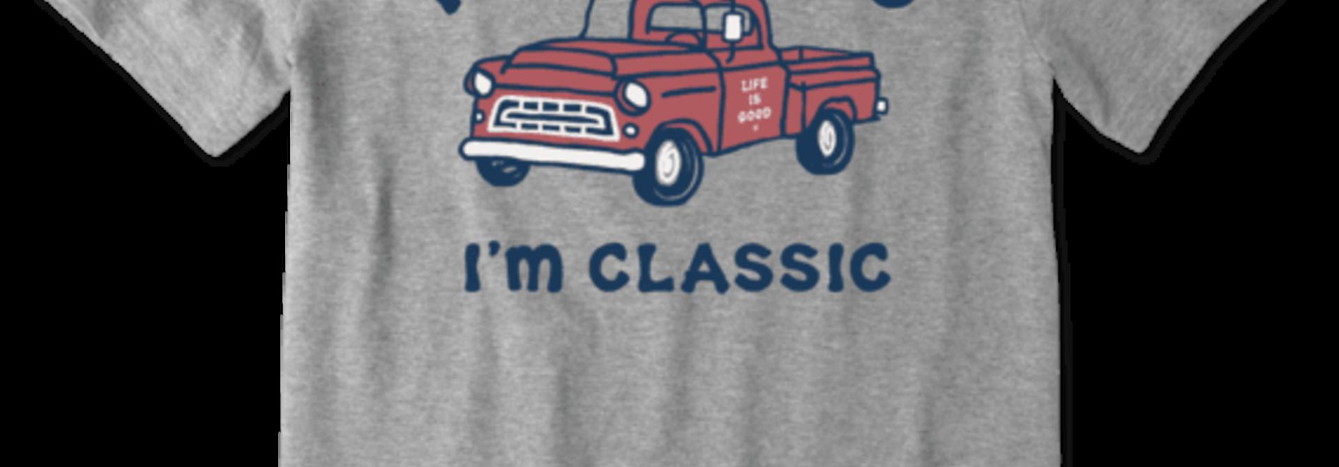 M's I'm Classic Pick Up Crusher-Lite Tee, Heather Gray