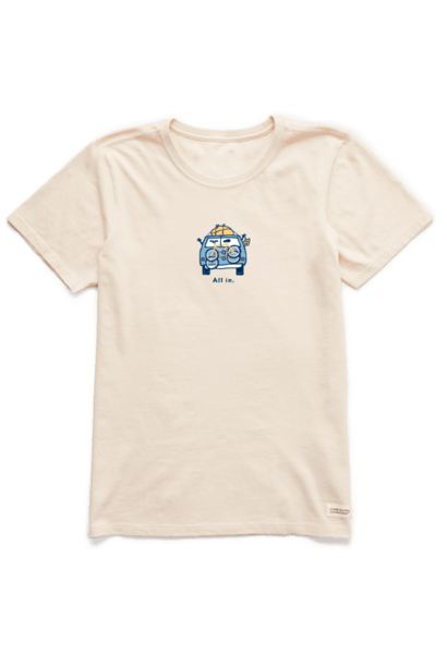 W's Vintage All In Van Crusher Tee, Putty White