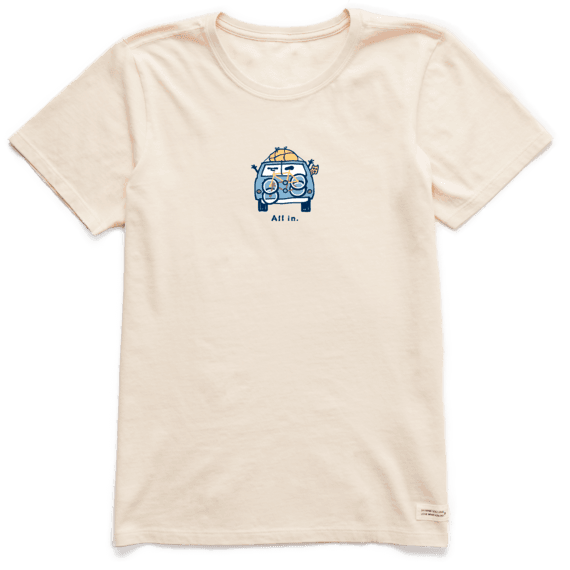 W's Vintage All In Van Crusher Tee, Putty White-1