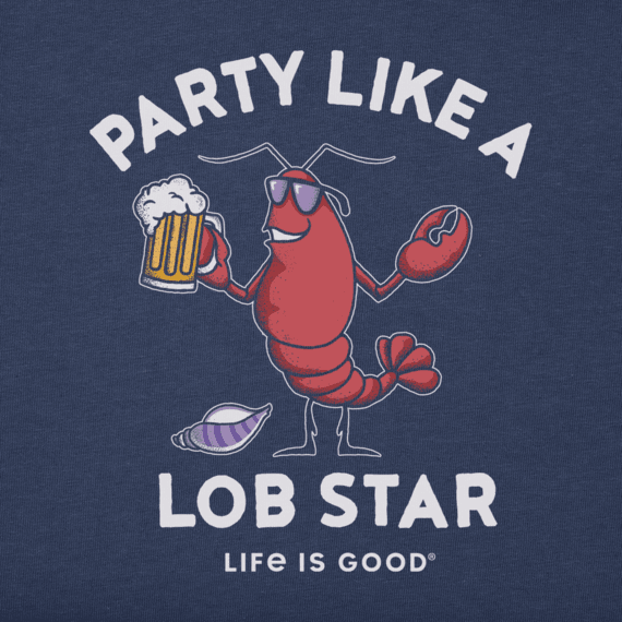 W's Party Like a Lob Star Crusher Tee, Darkest Blue-2