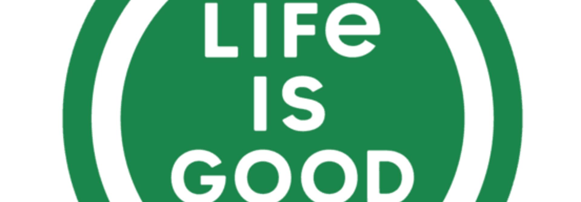 "LIG 4"" Circle Sticker, Jungle Green"