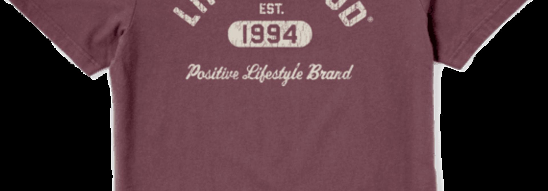 M's Positive Lifestyle 1994 Crusher-Lite Tee, Mahogany Brown