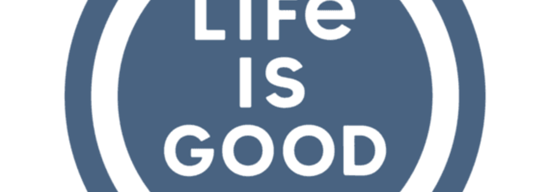 """Life is Good Coin 4"""" Circle Sticker,"""